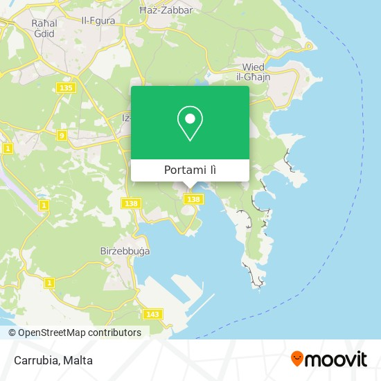 Mappa Carrubia