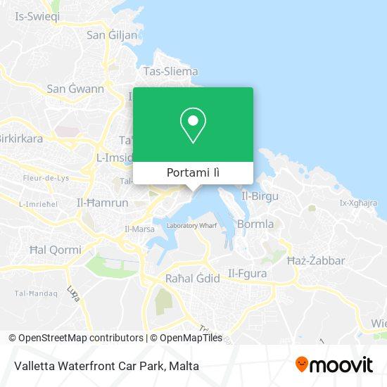 Mappa Valletta Waterfront Car Park