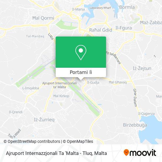 Mappa Malta International Airport - Departures