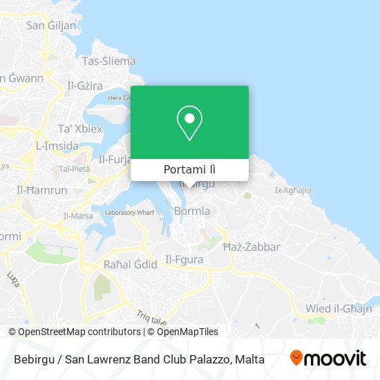 Mappa Bebirgu / San Lawrenz Band Club Palazzo