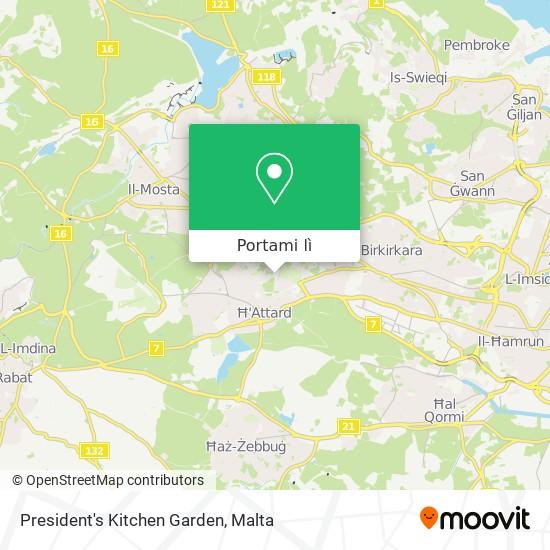 Mappa President's Kitchen Garden