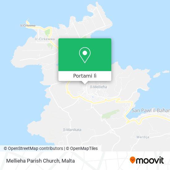 Mappa Mellieha Parish Church