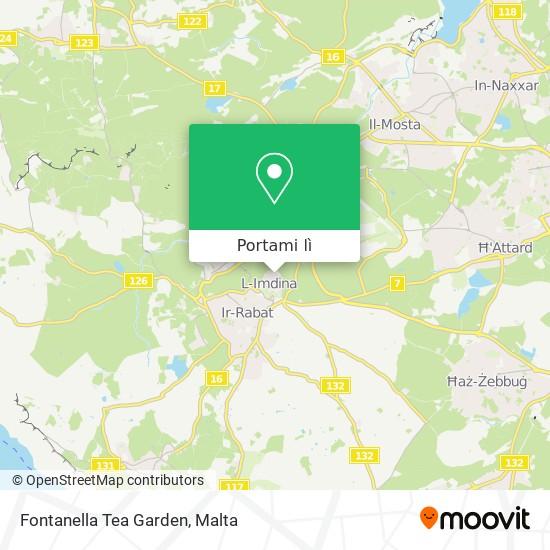 Mappa Fontanella Tea Garden