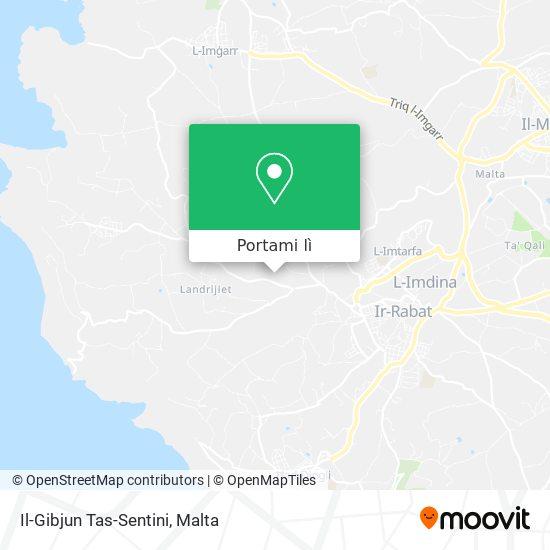 Mappa Il-Gibjun Tas-Sentini