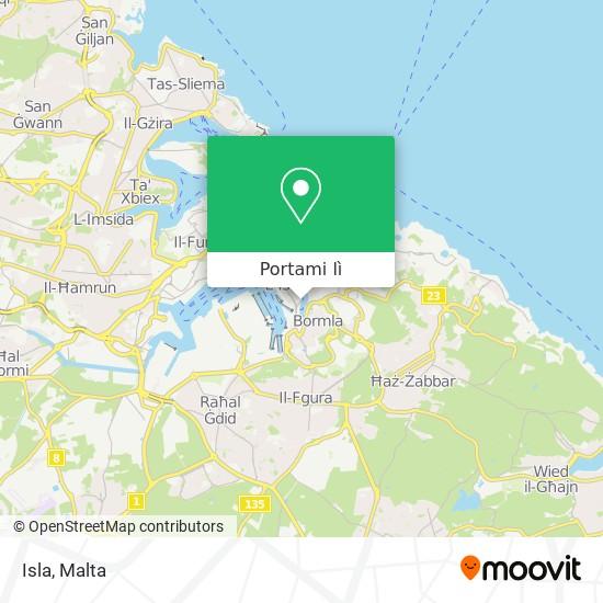 Mappa Isla