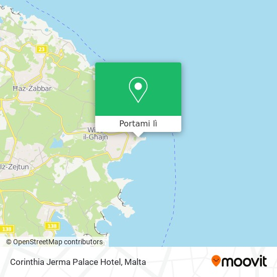Mappa Corinthia Jerma Palace Hotel