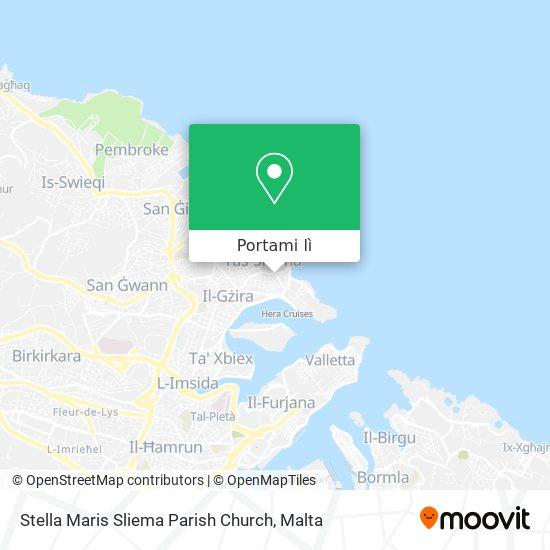 Mappa Stella Maris Sliema Parish Church