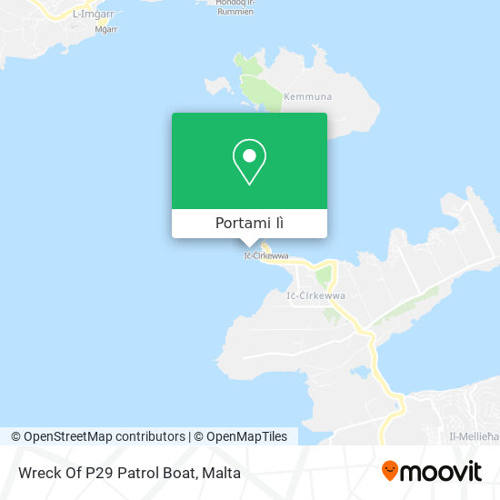 Mappa Wreck Of P29 Patrol Boat
