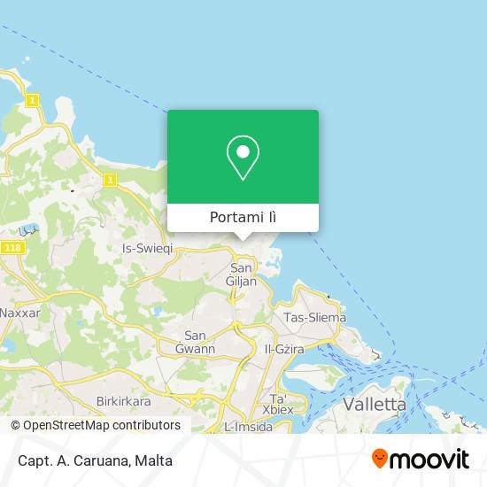 Mappa Capt. A. Caruana