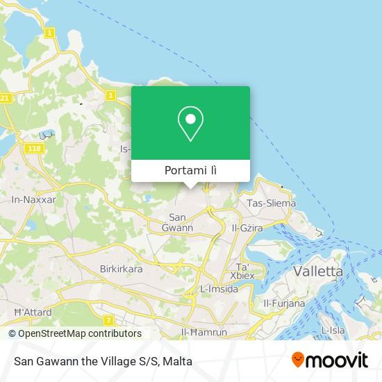 Mappa San Gawann The Village S/S