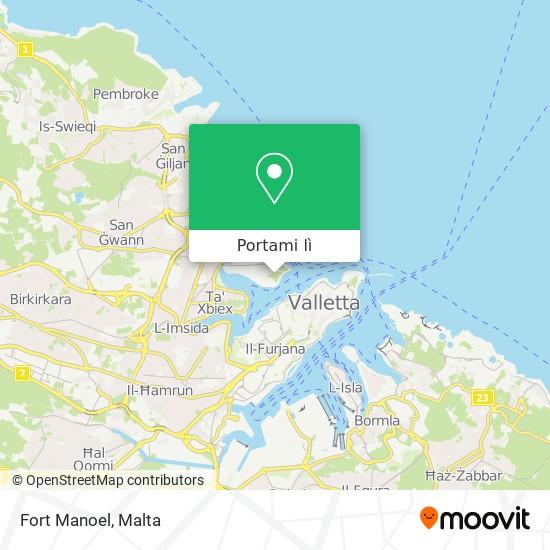 Mappa Fort Manoel