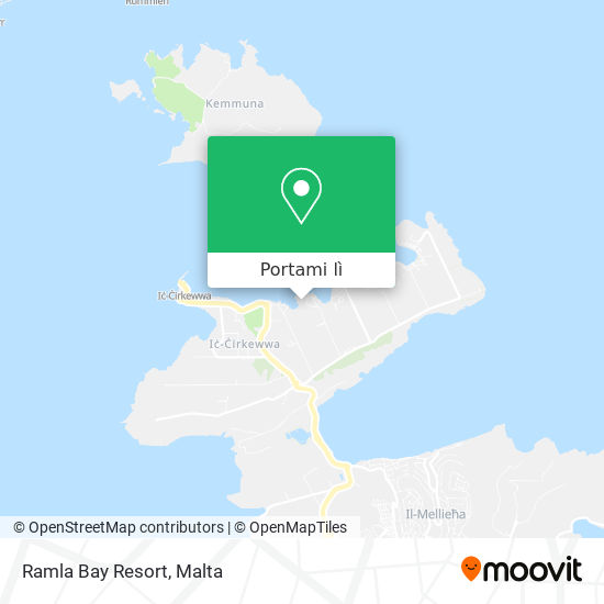 Mappa Ramla Bay Resort
