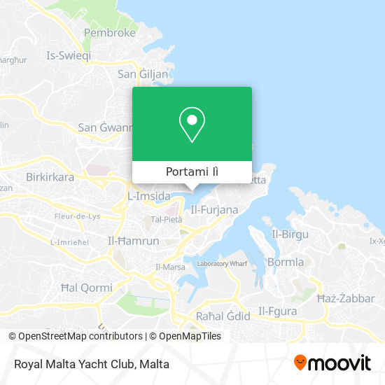 Mappa Royal Malta Yacht Club