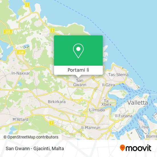 Mappa San Gwann - Gjacinti
