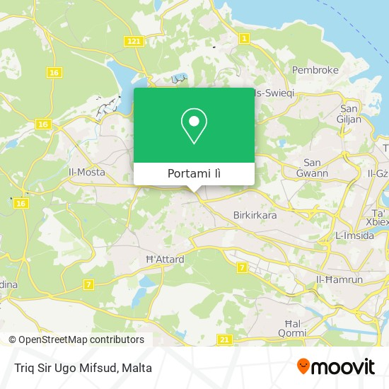 Mappa Triq Sir Ugo Mifsud