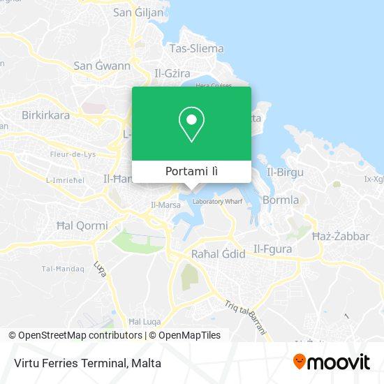 Mappa Virtu Ferries Terminal