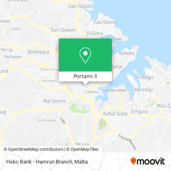 Mappa Hsbc Bank - Hamrun Branch