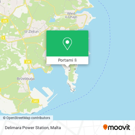 Mappa Delimara Power Station
