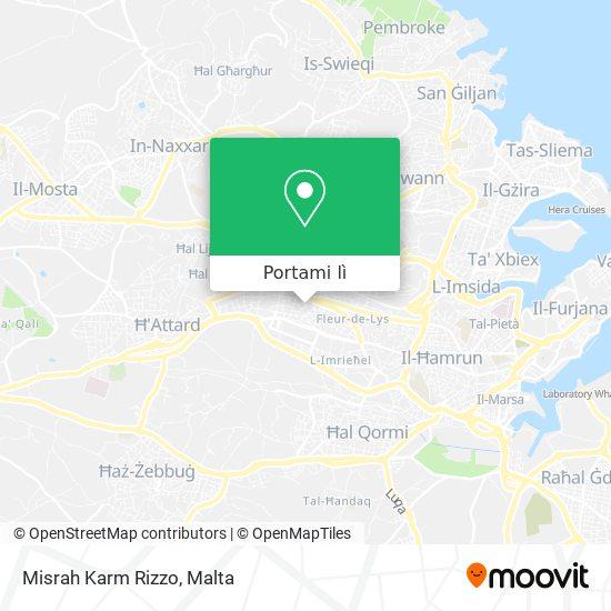 Mappa Misrah Karm Rizzo