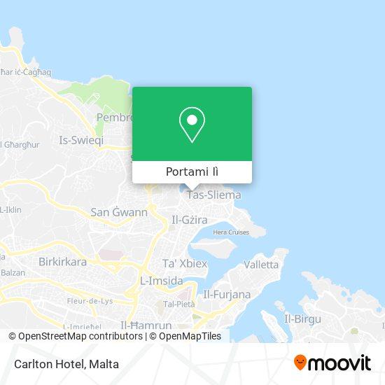 Mappa Carlton Hotel