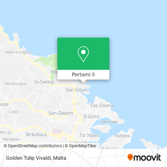 Mappa Golden Tulip Vivaldi