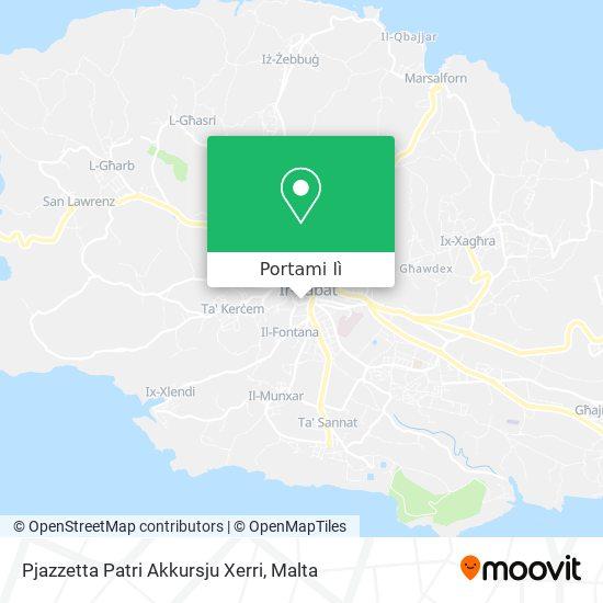 Mappa Pjazzetta Patri Akkursju Xerri