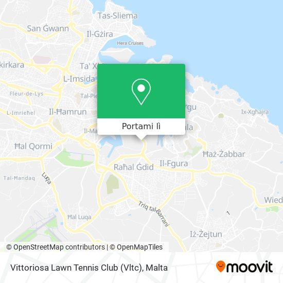 Mappa Vittoriosa Lawn Tennis Club (Vltc)