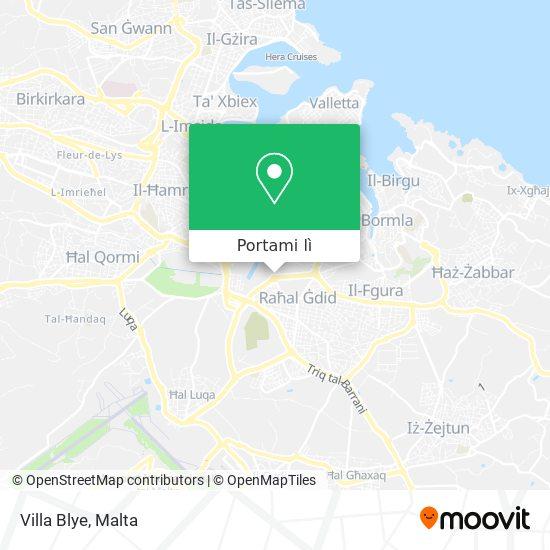 Mappa Villa Blye