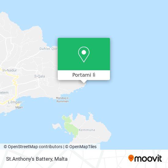 Mappa St.Anthony's Battery
