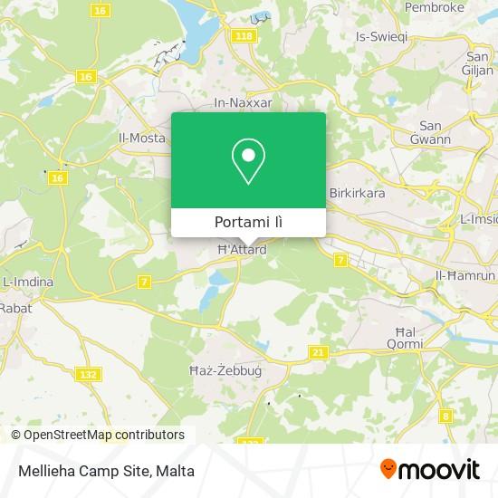Mappa Mellieha Camp Site