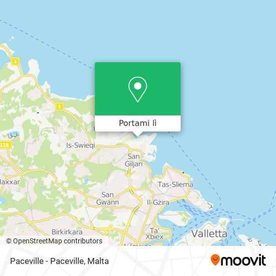 Mappa Paceville - Paceville