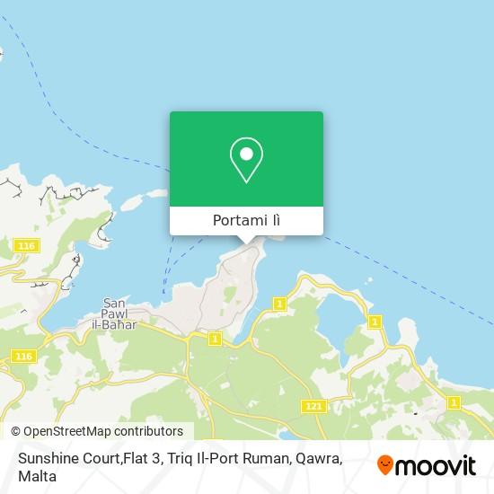 Mappa Sunshine Court,Flat 3, Triq Il-Port Ruman, Qawra