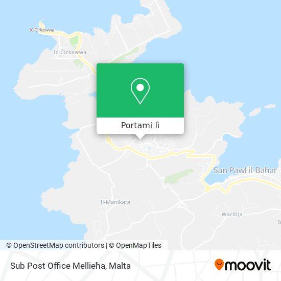 Mappa Sub Post Office Mellieħa