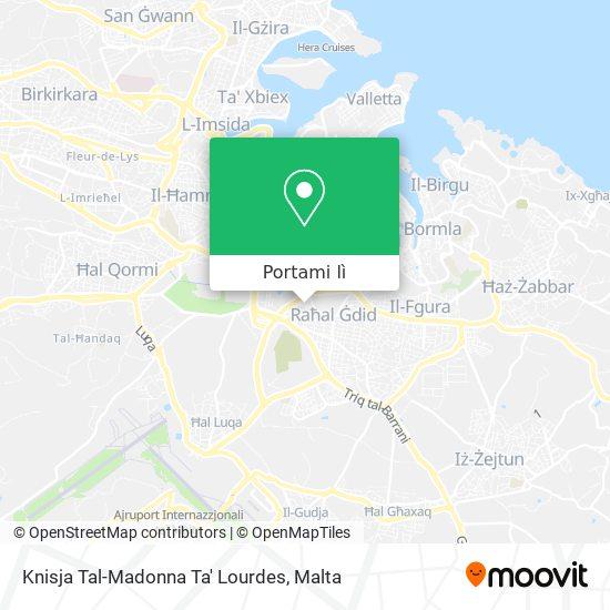 Mappa Knisja Tal-Madonna Ta' Lourdes