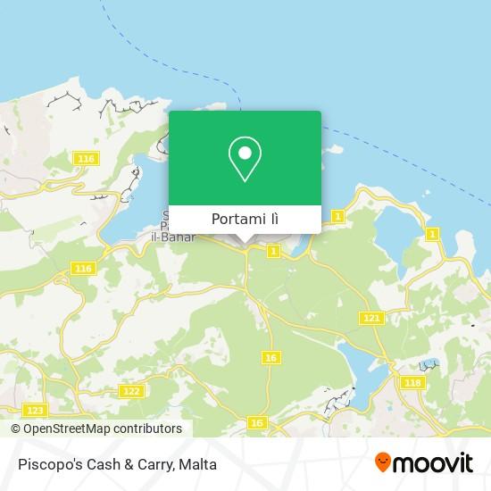 Mappa Piscopo's Cash & Carry