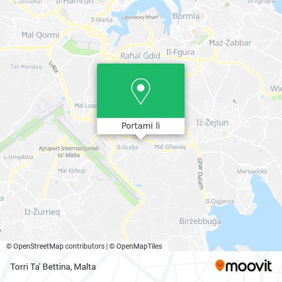Mappa Torri Ta' Bettina