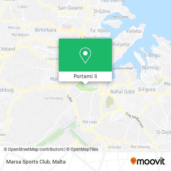 Mappa Marsa Sports Club