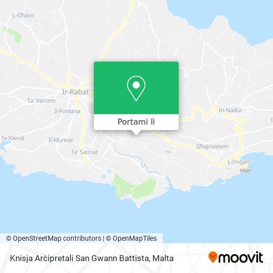 Mappa Xewkija Rotunda Church