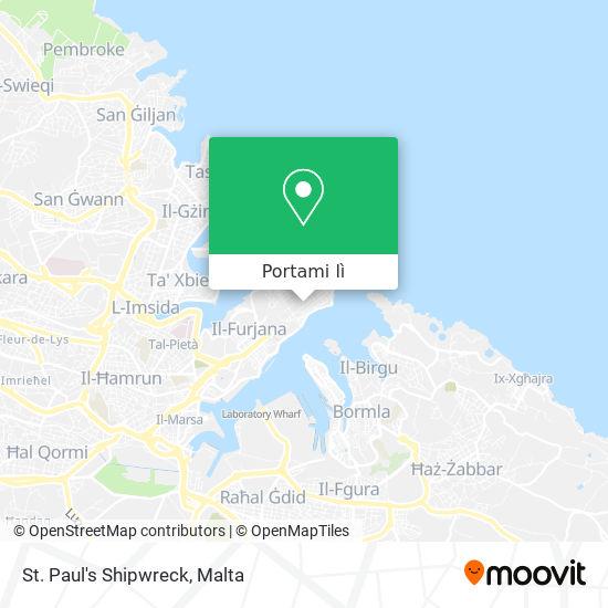 Mappa St. Paul's Shipwreck