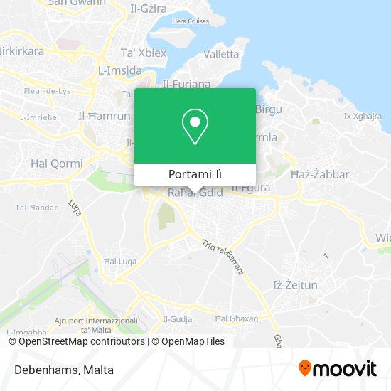 Mappa Debenhams