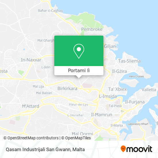 Mappa Qasam Industrijali San Gwann