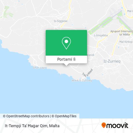 Mappa Ħaġar Qim Temples