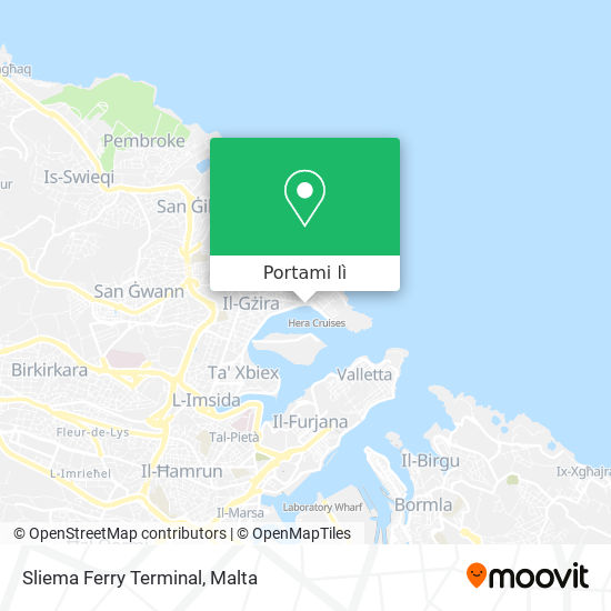 Mappa Sliema Ferries