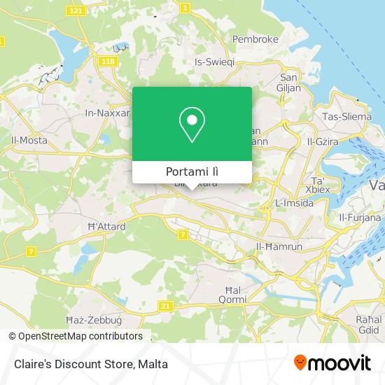 Mappa Claire's Discount Store