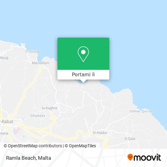 Mappa Ramla Beach