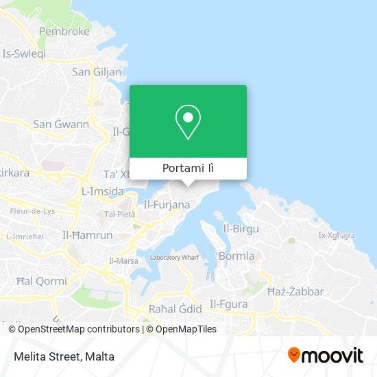 Mappa Melita Street