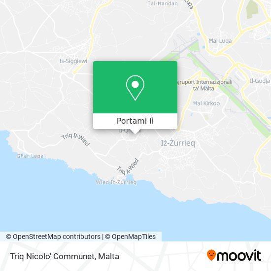 Mappa Triq Nicolo' Communet