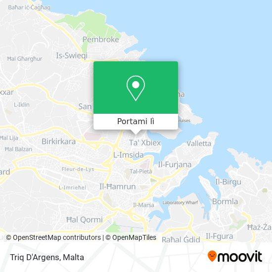 Mappa Triq D'Argens