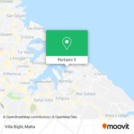 Mappa Villa Bighi