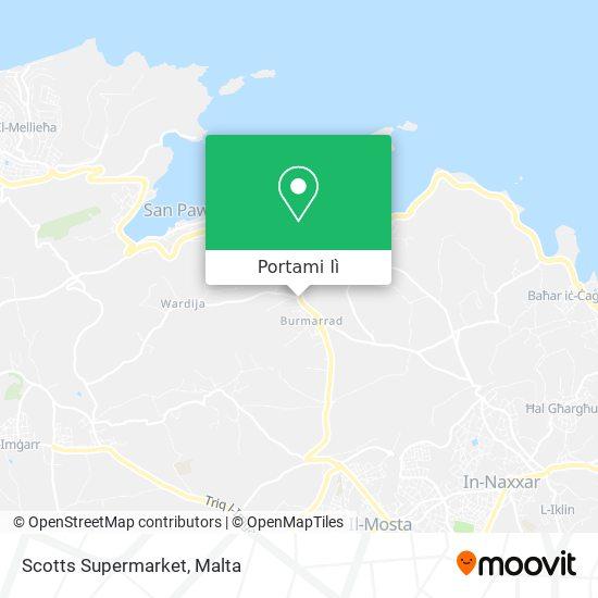 Mappa Scotts Supermarket